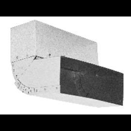 Difuzor rohový 500/500 bílý
