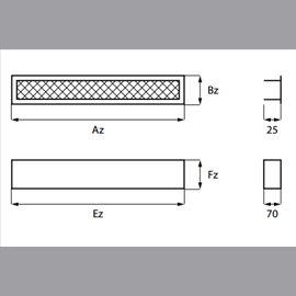 Krbová vložka BeF Flat V 6 N Twin - výsuvné dveře